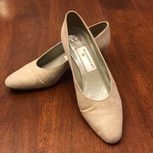 Vintage Liz Claiborne linen heels